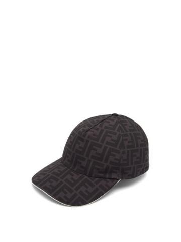 Matchesfashion.com Fendi - Ff-print Canvas Cap - Mens - Black
