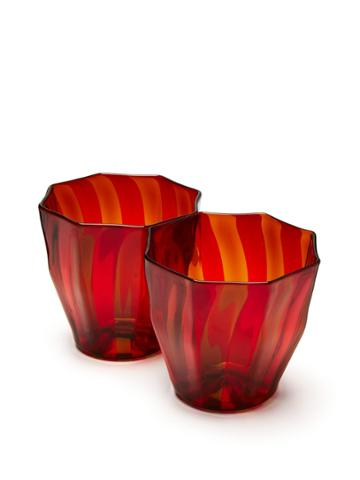 Campbell Rey Set Of 2 Rosanna Murano Stripe Glasses