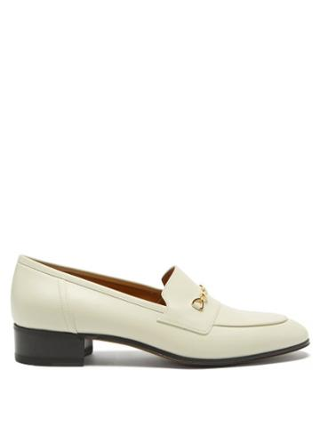 Gucci - Gg Horsebit Leather Loafers - Womens - White