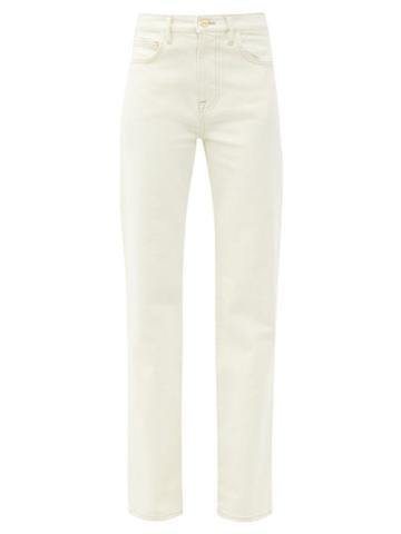 Matchesfashion.com Frame - Le Jane Straight-leg Jeans - Womens - Ivory