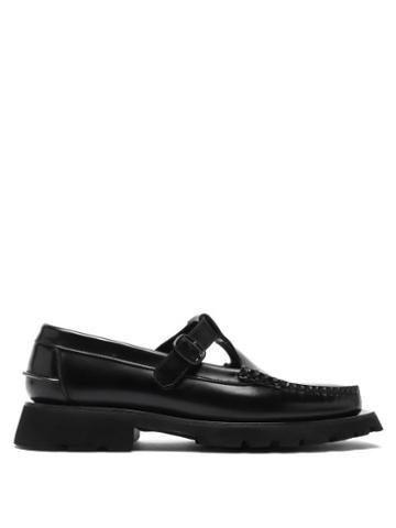 Matchesfashion.com Hereu - Alber Tread-sole T-bar Leather Loafers - Womens - Black