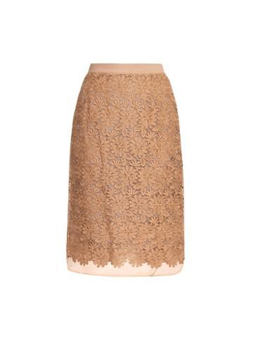 Muveil Floral-lace Midi Skirt