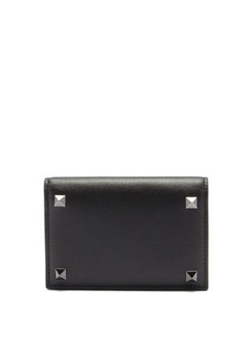 Matchesfashion.com Valentino Garavani - Rockstud Leather Bi-fold Cardholder - Mens - Black