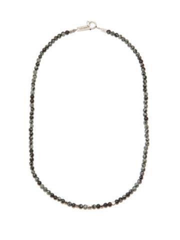 Isabel Marant - Logo-engraved Beaded Necklace - Mens - Black