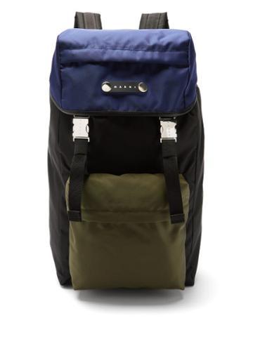 Matchesfashion.com Marni - Colour-blocked Nylon Backpack - Mens - Multi