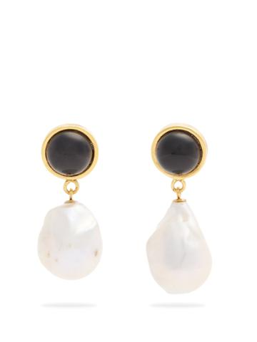 Lizzie Fortunato Tuxedo Pearl-drop Earrings