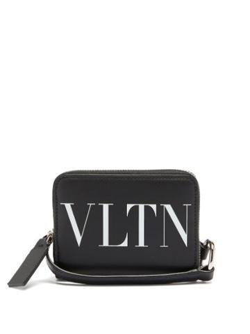 Matchesfashion.com Valentino Garavani - Vltn Leather Cross-body Wallet - Mens - Black