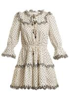 Matchesfashion.com Zimmermann - Jaya Linen Dress - Womens - Cream Multi