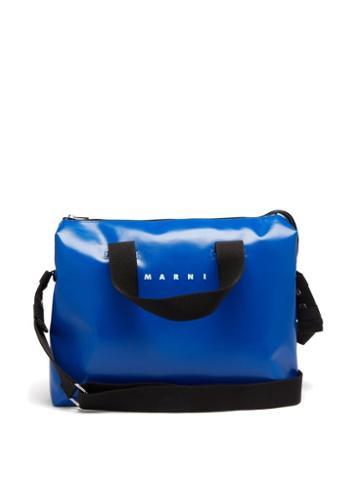 Mens Bags Marni - Tribeca Bi-colour Pvc Messenger Bag - Mens - Blue