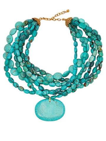 Matchesfashion.com Karry Gallery - Turquoise Necklace - Womens - Blue