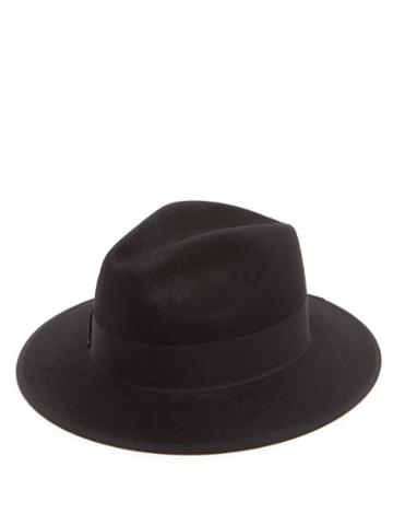 Matchesfashion.com Gucci - Ribbon-trimmed Fedora - Mens - Black