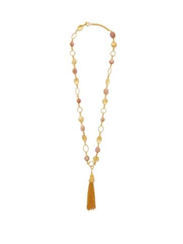Matchesfashion.com Sylvia Toledano - Long Tasselled Rhodochrosite Necklace - Womens - Pink