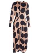 Stella Mccartney Large Polka-dot Print Long-sleeved Dress