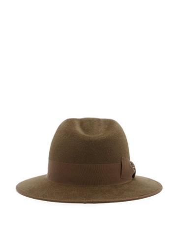 Matchesfashion.com Gucci - Ribbon-trimmed Fedora - Mens - Brown