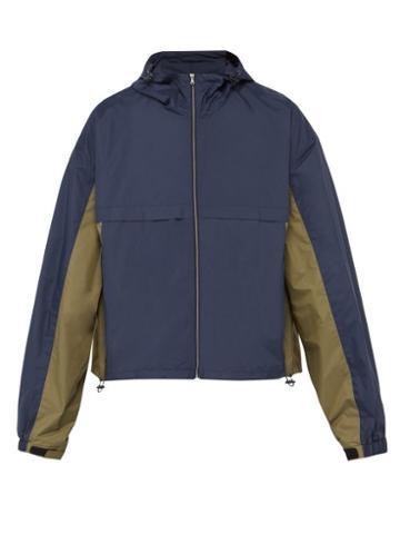 Matchesfashion.com Raey - Cagoule Windbreaker Jacket - Mens - Navy Multi