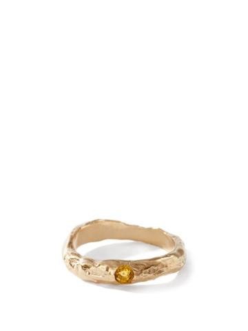 Matchesfashion.com Anita Berisha - November Birthstone & 14kt Gold-plated Ring - Womens - Orange