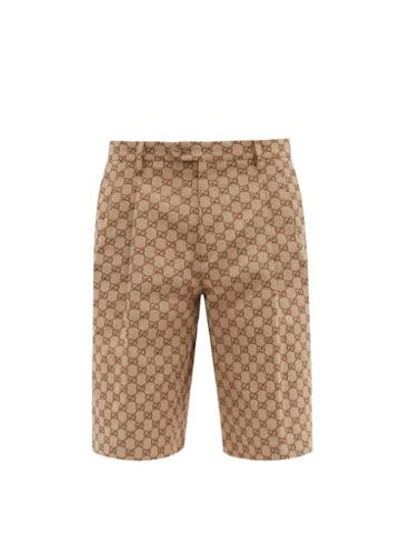 Matchesfashion.com Gucci - Gg Canvas Shorts - Mens - Beige
