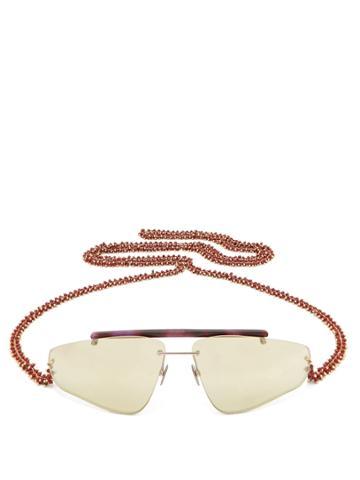 Acne Studios Ylari Angular Acetate Sunglasses