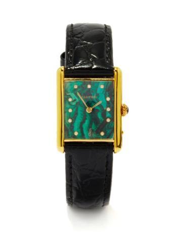 Jacquie Aiche - Vintage Cartier Tank Diamond & Gold-vermeil Watch - Womens - Green Multi