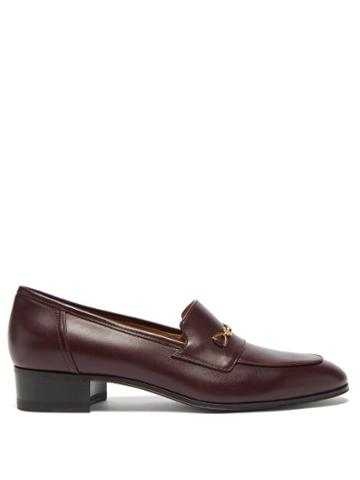 Gucci - Gg Horsebit Leather Loafers - Womens - Brown