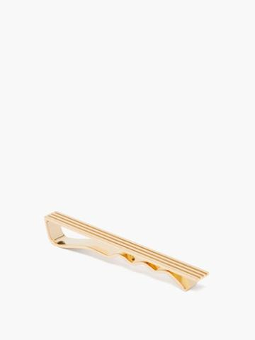 Tom Ford - Striped 18kt-gold Tie Pin - Mens - Gold