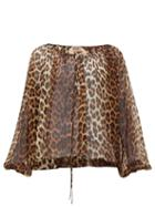Matchesfashion.com No. 21 - Leopard Print Silk Blouse - Womens - Leopard