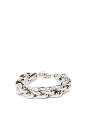 Matchesfashion.com Lauren Rubinski - Wheat-chain 14kt White-gold Bracelet - Womens - White Gold