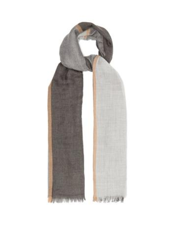 Matchesfashion.com Brunello Cucinelli - Striped Casmere-blend Karakorum Scarf - Mens - Multi