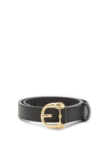 Matchesfashion.com Gucci - Horsebit Leather Belt - Mens - Black