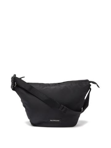 Balenciaga - Sling Oversized Recycled Nylon-shell Bag - Mens - Black
