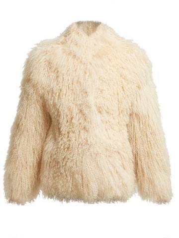 Matchesfashion.com Saint Laurent - Shearling Jacket - Womens - Cream