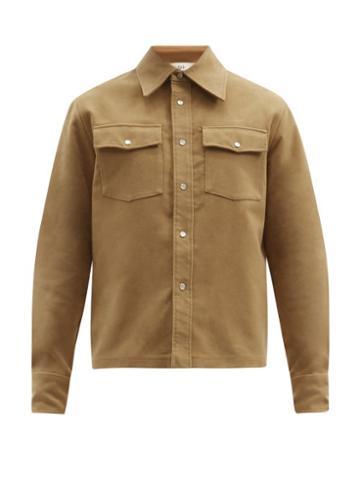 Matchesfashion.com Sfr - Matsy Flap-pocket Brushed-cotton Jacket - Mens - Beige