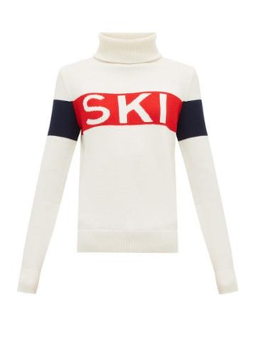 Matchesfashion.com Perfect Moment - Ski Intarsia Roll Neck Wool Sweater - Womens - White Multi