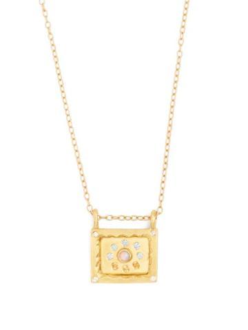 Matchesfashion.com Orit Elhanati - Havana 18kt Gold, Diamond & Opal Necklace - Womens - Gold