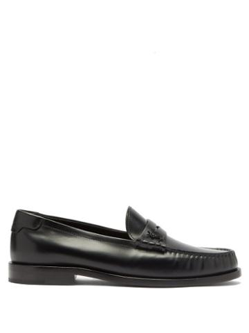 Matchesfashion.com Saint Laurent - Le Loafer Leather Loafers - Womens - Black