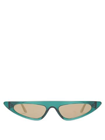 Andy Wolf Florence Flat-top Cat-eye Acetate Sunglasses