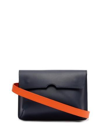 Matchesfashion.com Pb 0110 - Ab65 Leather Belt Bag - Womens - Navy Multi