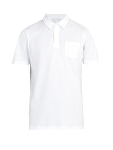 Matchesfashion.com Sunspel - Riviera Cotton Piqu Polo Shirt - Mens - White