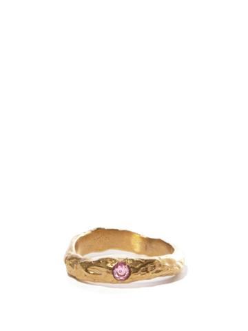 Matchesfashion.com Anita Berisha - October Birthstone & 14kt Gold-plated Ring - Womens - Pink