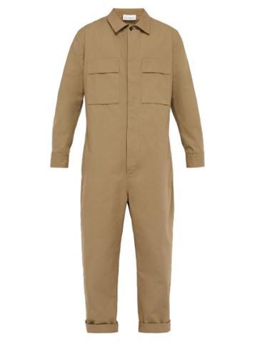 Matchesfashion.com Raey - Button Down Cotton Boilersuit - Mens - Khaki