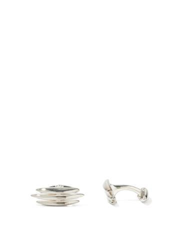 Matchesfashion.com Shaun Leane - Arc Triple Sterling-silver Cufflinks - Mens - Silver