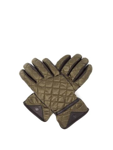 Matchesfashion.com Bogner - Agimo Quilted Technical Gloves - Womens - Dark Green