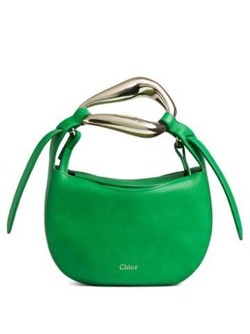Matchesfashion.com Chlo - Kiss Leather Cross-body Bag - Womens - Green