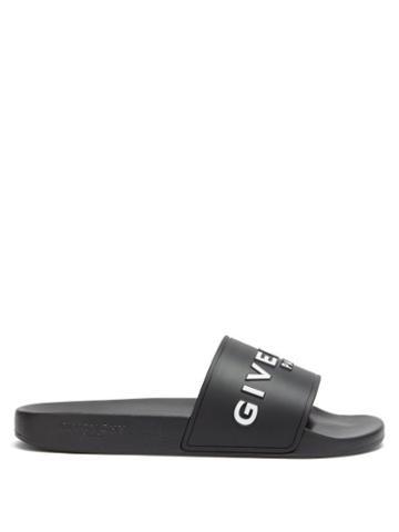 Matchesfashion.com Givenchy - Logo Embossed Slides - Mens - Black