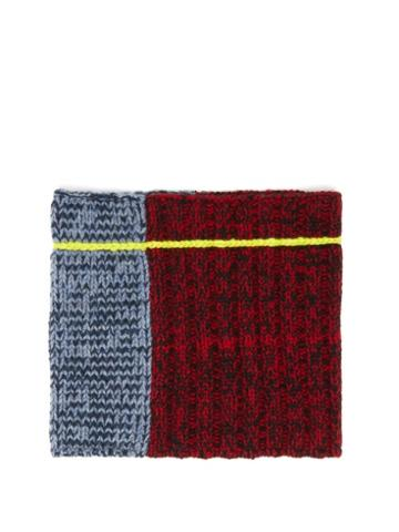 Matchesfashion.com Colville - Panelled Knitted Wool Snood - Womens - Multi