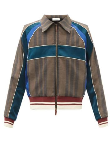 Matchesfashion.com Wales Bonner - Isaacs Panelled Wool-blend Jacket - Mens - Brown