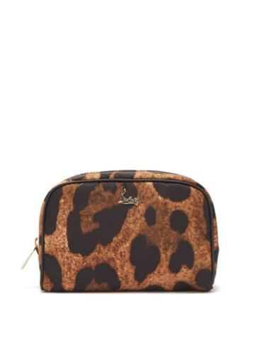 Matchesfashion.com Christian Louboutin - Leopard Print Cosmetics Case - Womens - Leopard