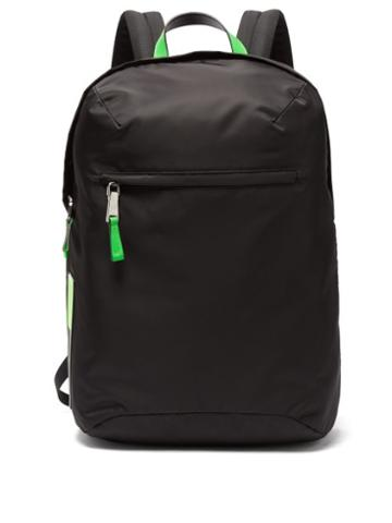 Matchesfashion.com Prada - Neon Trimmed Nylon Backpack - Mens - Black Green