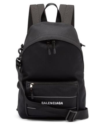 Matchesfashion.com Balenciaga - Multi-strap Logo-embroidered Backpack - Mens - Black