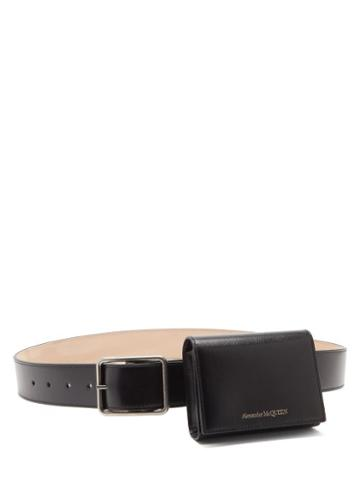 Matchesfashion.com Alexander Mcqueen - Spiked Double-wrap Leather Belt - Mens - Black